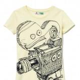 biała koszulka Cropp z aplikacją - wiosna/lato 2011