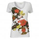 biała koszulka Jackpot w kwiaty - moda 2011