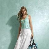 biała spódnica KiK długa