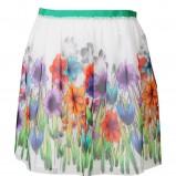 biała spódnica Stefanel w kwiaty - wiosna/lato 2012