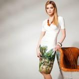 biała sukienka Anataka w kwiaty - lookbook 2013