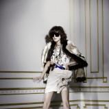 biała sukienka H&M - jesień/zima