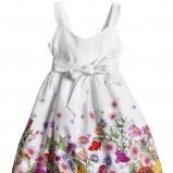 biała sukienka H&M w kwiaty - wiosna/lato 2012