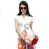 biała sukienka Novamoda w kwiaty - kolekcja wiosenno/letnia