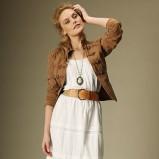 biała sukienka Promod długa - lato