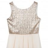 biała sukienka Reserved z brokatem - sylwester 2012/13