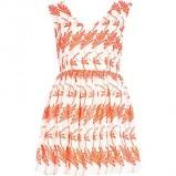biała sukienka River Island we wzorki - kolekcja letnia