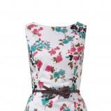 biała sukienka s.Oliver w kwiaty - wiosna/lato 2012