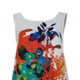 biała sukienka Solar w kwiaty - letnie trendy
