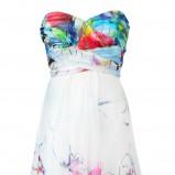 biała sukienka Solar w kwiaty - wiosna/lato 2012