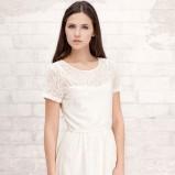 biała sukienka Stradivarius koronkowa - z kolekcji wiosna-lato 2012