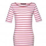 biała sukienka Top Secret w pasy - lato 2011