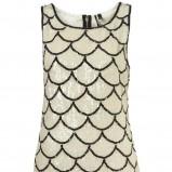 biała sukienka Topshop z cekinami - trendy na jesień-zimę