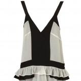 biała sukienka Topshop z falbanką - z kolekcji wiosna-lato 2012