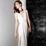 biała sukienka wieczorowa Jason Wu maxi - jesień 2013