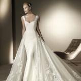biała suknia ślubna Costura z koronką syrenka - 2012