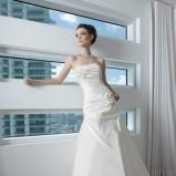 biała suknia ślubna Just For You drapowana - 2012