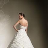 biała suknia ślubna Justin Alexander z falbankami