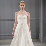 biała suknia ślubna Monique Lhuillier koronkowa