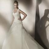 biała suknia ślubna San Patrick na ramiączkach - 2012