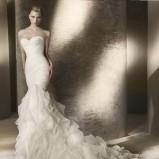 biała suknia ślubna San Patrick z falbanami syrenka - 2012