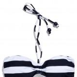 białe bikini Reserved w pasy - z kolekcji wiosna-lato 2012