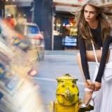 białe na obcasie sandałki DKNY - Cara Delevingne