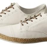 białe półbuty H&M materiałowe - lato 2012