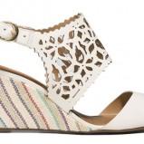 białe sandałki Badura - obuwie na lato