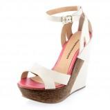 białe sandałki Prima Moda na koturnie  - lato 2013