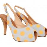 białe sandały Caterina w grochy - kolekcja wiosenna