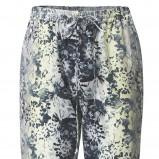 białe spodnie H&M we wzorki materiałowe - lato 2012