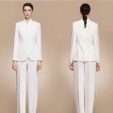 Białe spodnium ślubne