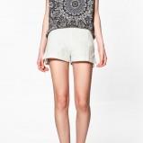białe szorty ZARA - z kolekcji wiosna-lato 2012