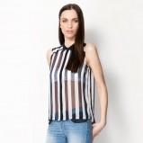 biało-czarna koszula Bershka w paski - trendy 2013
