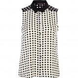 biało-czarna koszula River Island - trendy 2013
