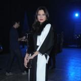 biało - czarna sukienka wieczorowa - Joanna Horodyńska