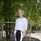 biało-czarne spodnie - Ania Wyszkoni