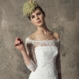 biały suknia ślubna Higar Novias koronkowa - trendy 2012