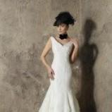 biały suknia ślubna Higar Novias syrenka - trendy 2012