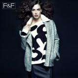 biały sweter F&F z aplikacją - jesień 2013