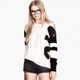 biały sweter H&M - jesienne trendy 2013
