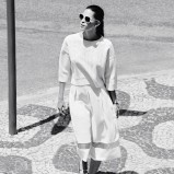 Biały sweter i spódnica F&F