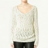 biały sweter ZARA - wiosna-lato 2011