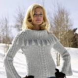 biały sweterek bonprix - moda na jesień i zimę 2013/14