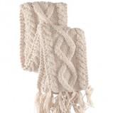 biały szalik H&M