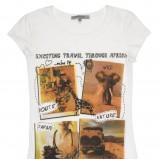 biały t-shirt C&A z aplikacją - sezon wiosenno-letni