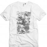 biały t-shirt Kappahl z nadrukiem - moda wiosna/lato