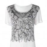 biały t-shirt Mango z nadrukiem - jesień/zima 2011/2012
