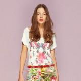 biały t-shirt Motivi w kwiaty  - lato 2013